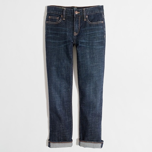 J. Crew Factory Denim - Factory Indigo Wash Straight and Narrow Capri Jean